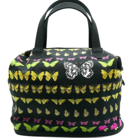 Vintage Versace Black Butterfly Print Bag. M 5c3c7ae7de6f621fd29c04d6 b2ccd591c75